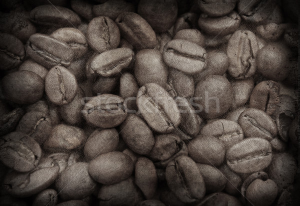 Grunge image of coffee beans  Stock photo © kjpargeter