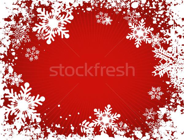 Nem leírás absztrakt hó tél karácsony Stock fotó © kjpargeter