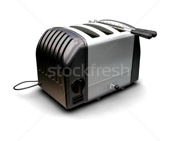 Retro opiekacz 3d nowoczesne ilustracja oddać Zdjęcia stock © kjpargeter