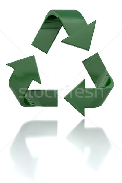 Foto stock: Reciclagem · ícone · 3d · render · reciclar