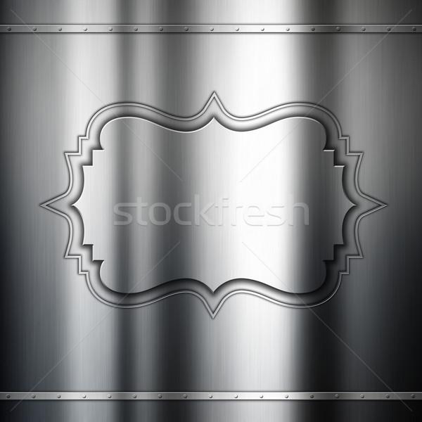 Metal dekoracyjny dekoracyjny ramki srebrny Zdjęcia stock © kjpargeter