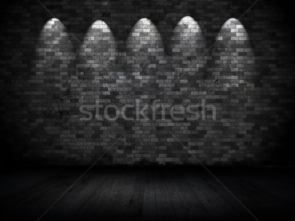 Foto stock: Grunge · parede · estilo · interior · velho · parede · de · tijolos