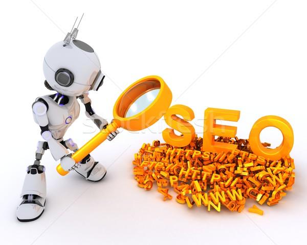 Robot search engine optimisation Stock photo © kjpargeter