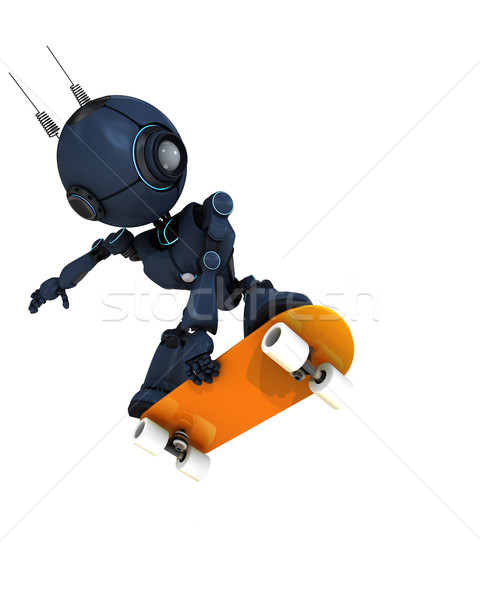 Android skateboarder Stock photo © kjpargeter