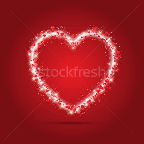 Sparkle heart background Stock photo © kjpargeter