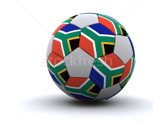 Мир Кубок футбола 2010 3d визуализации Сток-фото © kjpargeter