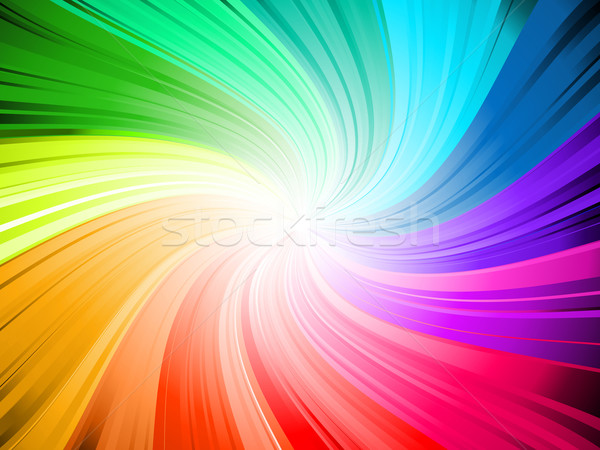 Rainbow swirl  Stock photo © kjpargeter