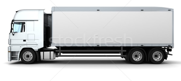 Stockfoto: Vracht · levering · voertuig · 3d · render · vrachtwagen · reizen