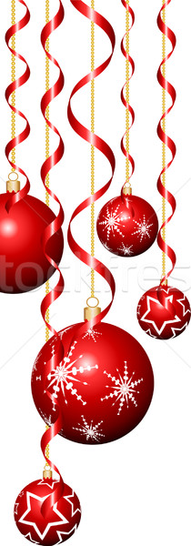 Christmas baubles and streamers Stock photo © kjpargeter