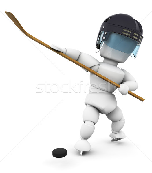 Ice hockey player Stock photo © kjpargeter