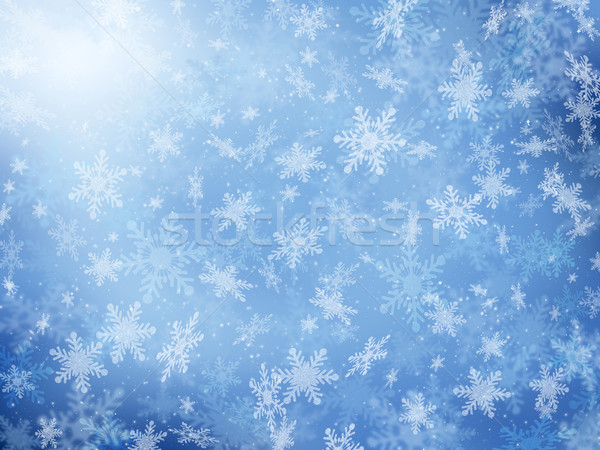 Snowflake background Stock photo © kjpargeter