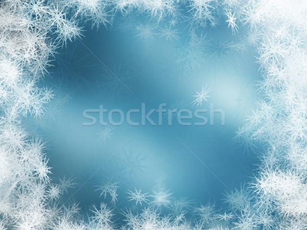 Stok fotoğraf: Kar · taneleri · çok · soyut · kar · arka · plan · kış