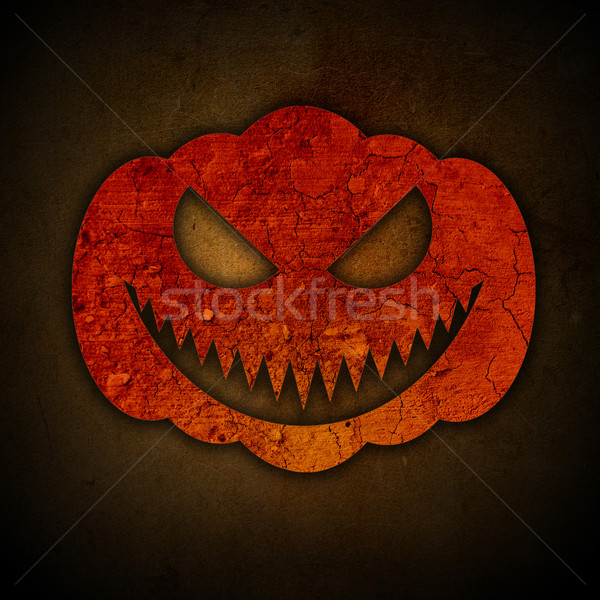 Grunge halloween dynia konkretnych vintage Zdjęcia stock © kjpargeter