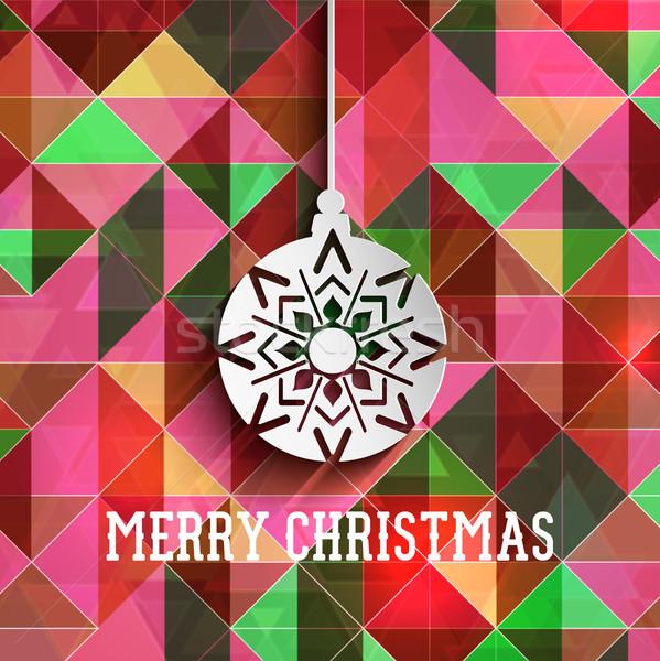 Weihnachten Spielerei Retro abstrakten geometrischen Design Stock foto © kjpargeter