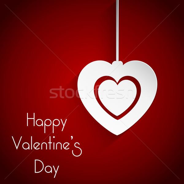 バレンタインデー 装飾的な 絞首刑 中心 休日 お祝い ストックフォト © kjpargeter