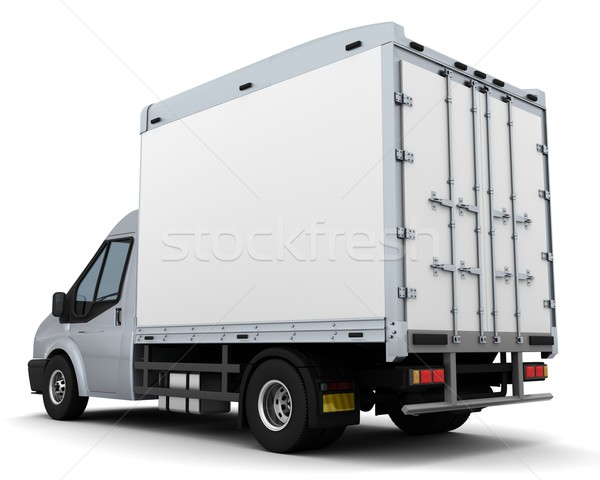 Lit van rendu 3d camion Voyage transport Photo stock © kjpargeter