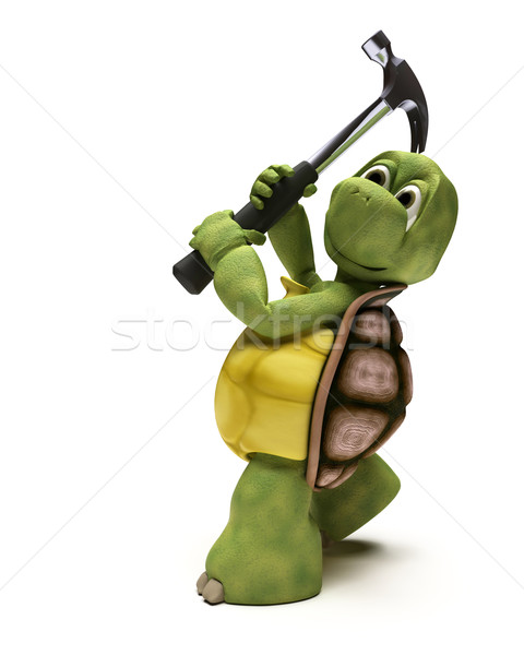 Tortoise with a claw hammer Stock photo © kjpargeter