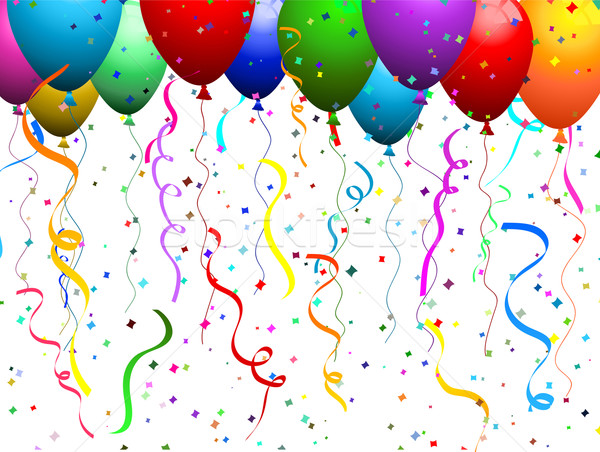 Balloons and confetti  Stock photo © kjpargeter