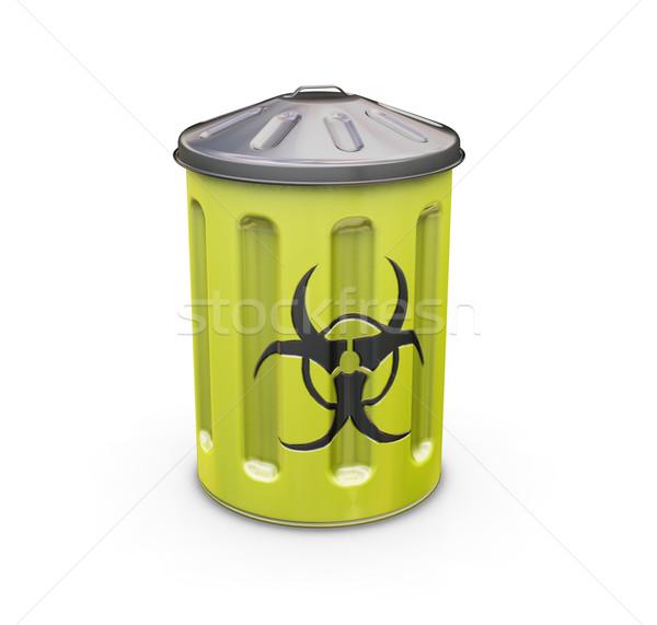 Biohazard bin Stock photo © kjpargeter
