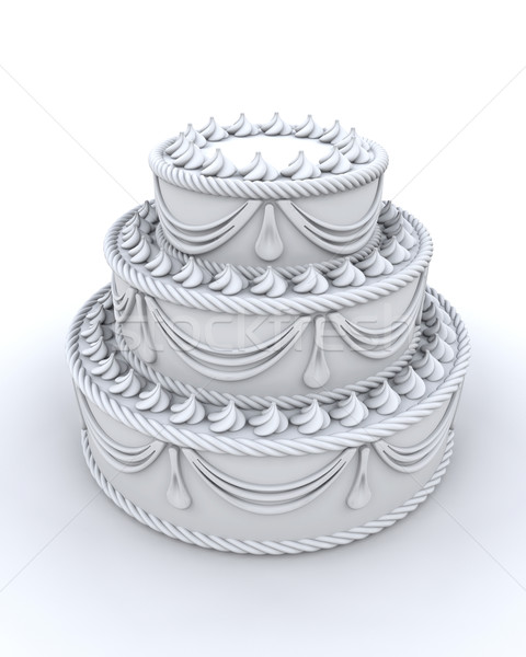 3d render of decorated cake Stock photo © kjpargeter