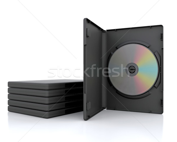 3D DVD Case  Stock photo © kjpargeter