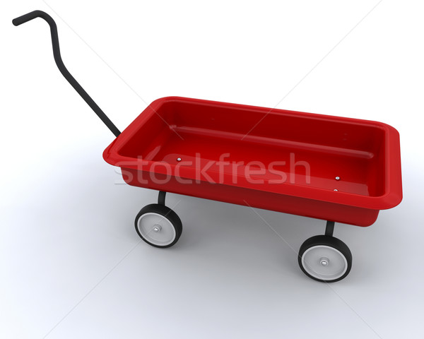 おもちゃ 赤 ワゴン 3dのレンダリング 子 レトロな ストックフォト © kjpargeter