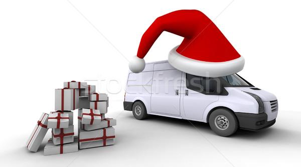 Noel 3d render hediyeler teslim Stok fotoğraf © kjpargeter