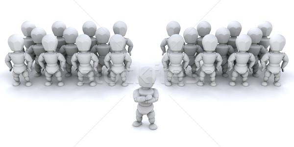 Chef d'équipe une personne équipe personnes femme homme Photo stock © kjpargeter
