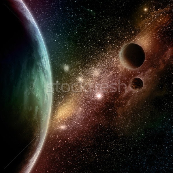 Abstract space background Stock photo © kjpargeter