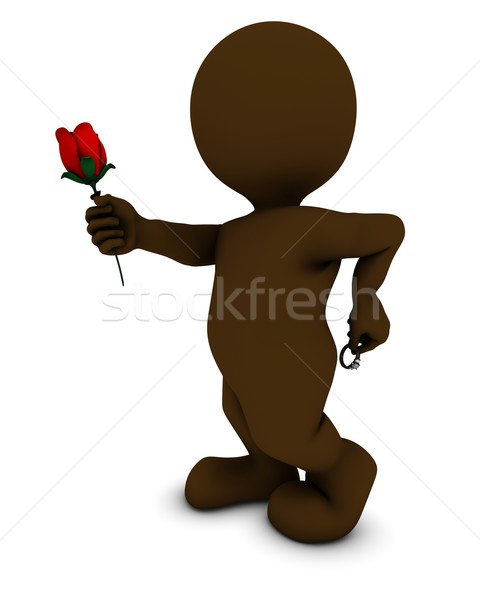 Morph man with rose and ring Stock photo © kjpargeter