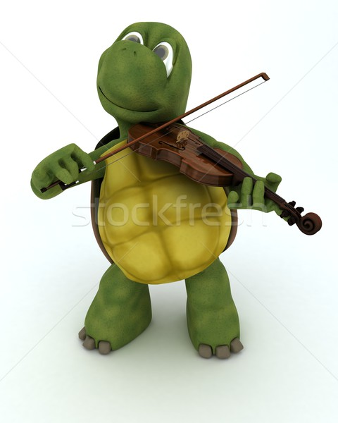 tortoise playing the violin Stock photo © kjpargeter