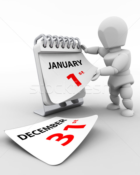 january 1st new years day Stock photo © kjpargeter