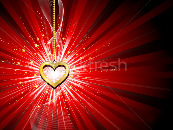 golden heart background  Stock photo © kjpargeter