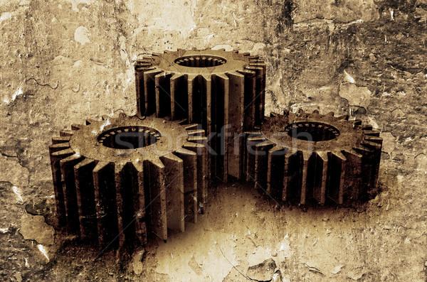 Grunge gears Stock photo © kjpargeter
