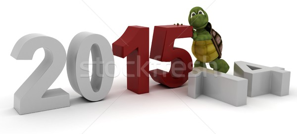tortoise bringing in the new year Stock photo © kjpargeter