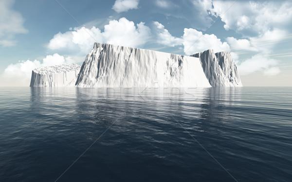 3D океана 3d визуализации воды природы пейзаж Сток-фото © kjpargeter
