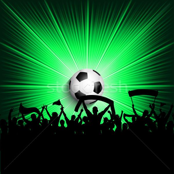 Calcio folla sfondo gruppo bandiera palla Foto d'archivio © kjpargeter