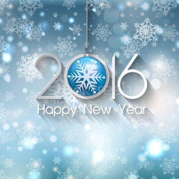 Feliz ano novo bugiganga natal férias celebração celebrar Foto stock © kjpargeter