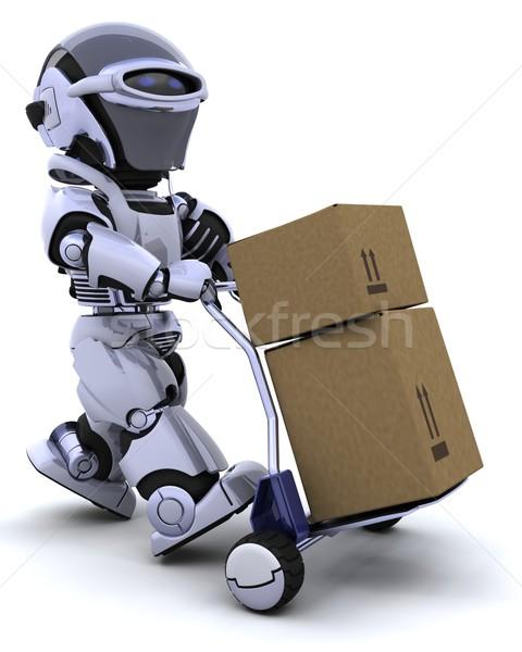 Zdjęcia stock: Robot · ruchu · wysyłki · pola · 3d · przyszłości