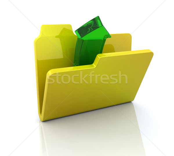 Computer icon for open folder Stock photo © kjpargeter