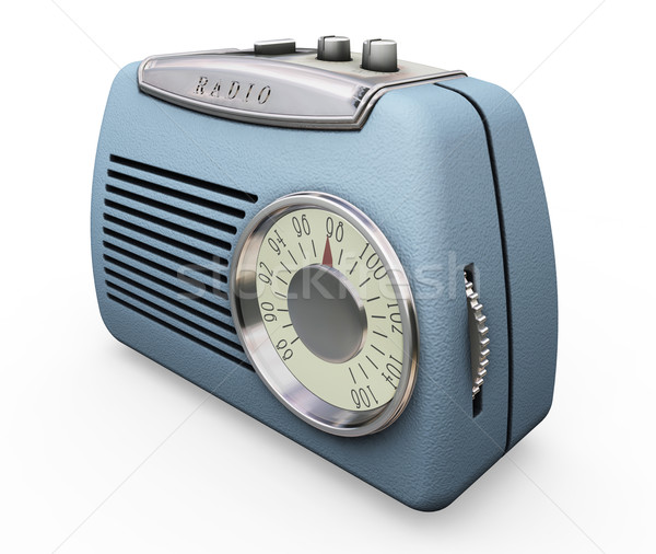 Retro radio 3d face antic electronic obiect Imagine de stoc © kjpargeter