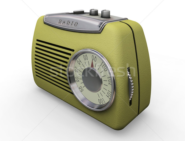 Retro radio Stock photo © kjpargeter