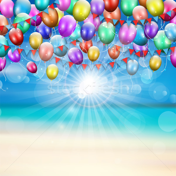 Balloons background  Stock photo © kjpargeter