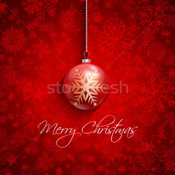 Karácsony csecsebecse dekoratív hópehely terv hó Stock fotó © kjpargeter