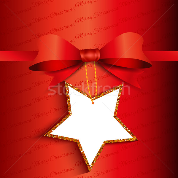 Christmas gift background with glittery label Stock photo © kjpargeter