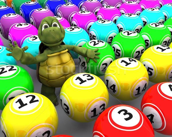 Tartaruga bingo 3d render água oceano Foto stock © kjpargeter