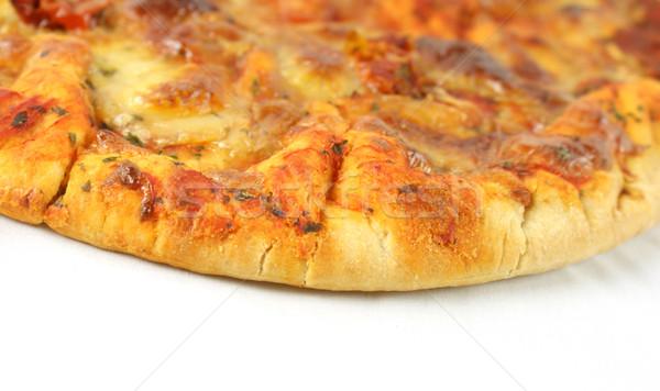 Kaas tomaat pizza Stockfoto © kjpargeter