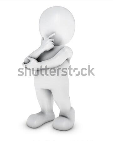3D Morph Man thinking Stock photo © kjpargeter