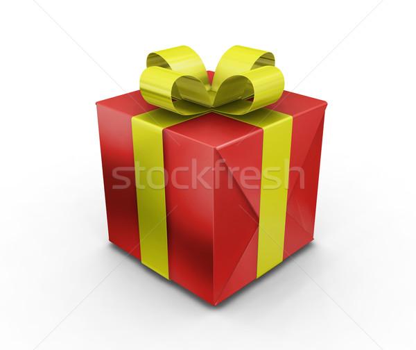 ギフト 3dのレンダリング 時間 星 リボン クリスマス ストックフォト © kjpargeter