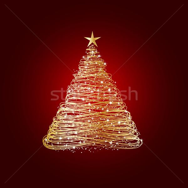 Stok fotoğraf: Altın · noel · ağacı · ağaç · soyut · renk · Noel